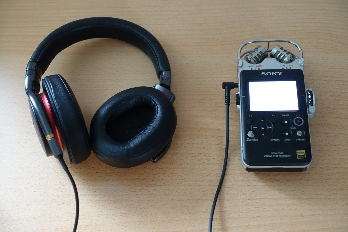 Sony PCM-D100 und MDR-1A