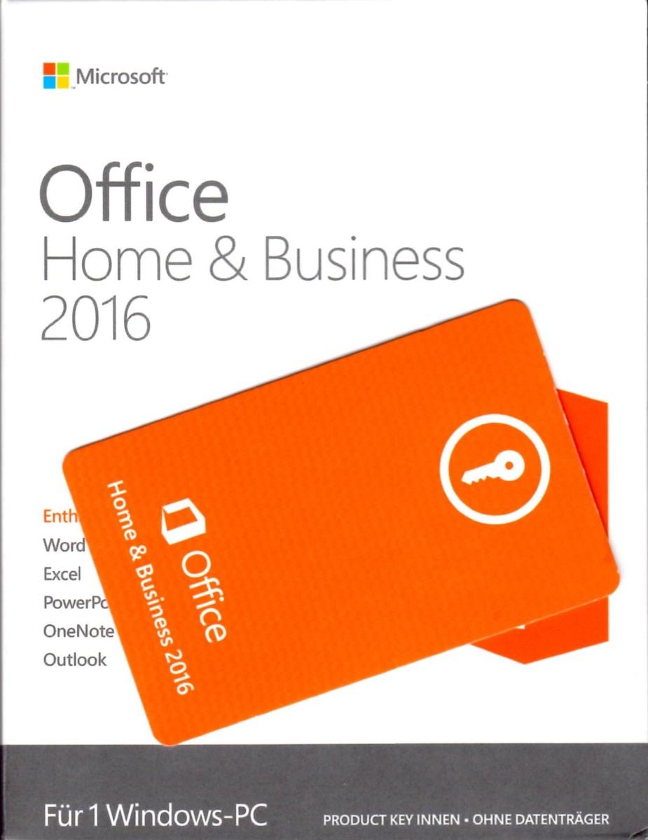 Verkaufsverpackung MS Office 2016