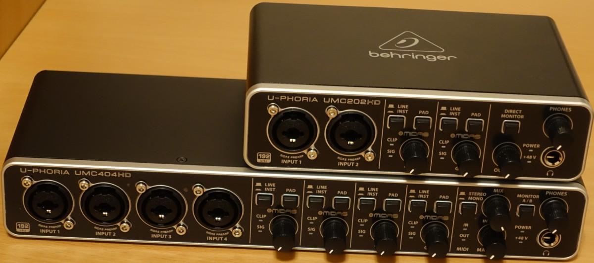 Behringer U-Phoria UMC202HD und UMC404HD