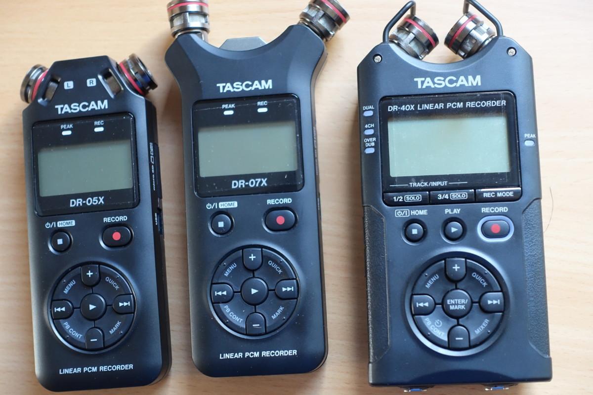 Tascam DR-05X, DR-07X und DR-40X