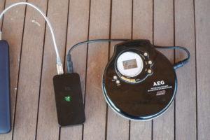 Nubert nuConnect trX mit CD-Player im Freifeld