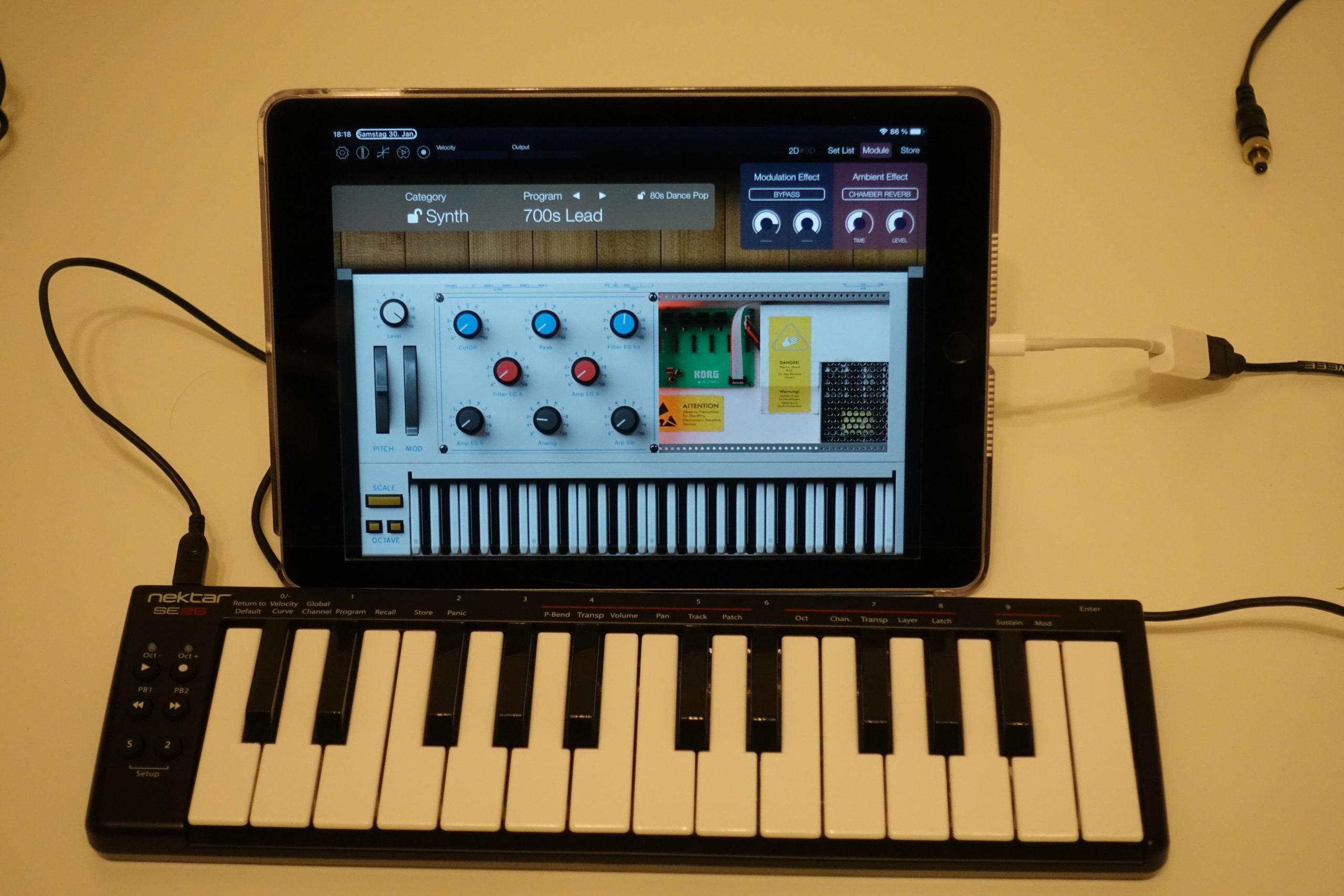 Nektar SE25 mit iPad