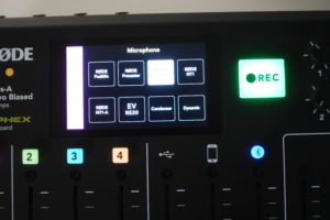 RODE RODECaster Pro Mikrofonauswahl