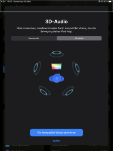 Screenshot Apple immersives Audio