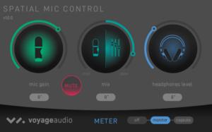 Screenshot Spatial Mic Control App